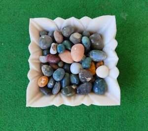 Lotus Fruit Decorative Hand Carved Handmade Bowl In White Color Uruli For Decor