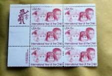 USA 1979  INTERNATIOL YEAR OF THE CHILD   BLOCCO DI 6 VALORI MNH**