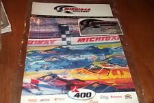MICHIGAN SPEEDWAY KMART 400 NASCAR SOUVENIR PROGRAM 1999 WITH ADHESIVE PLAQUE