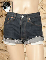LEVIS 501 VINTAGE HIGH WAISTED CUT OFF BOYFRIEND SHORTS - W28 - UK 8 - (Q)