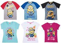Boys Girls Kids Children Teenage Minions T-shirt Top Age 6 - 12 Years 116-152cm