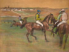 Degas Drawings: Race Horses - Fine Art Print