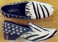 Stud Shoes Zebra Faux Pelt White Navy Park Area Women size 3M New
