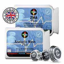 ANABOLIC -ZMA BODYBUILDING SUPPLEMENT PURE EXTREME MUSCLE GAINS TESTOSTERONE
