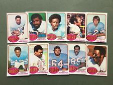 Lot cartes NFL Houston Oilers Topps 1976 1980 1981 Football Américain