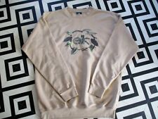 MENS VINTAGE 90S ELK HIPSTER RAVE OVERSIZED SWEATSHIRT FAIR CON SPELLOUT LARGE
