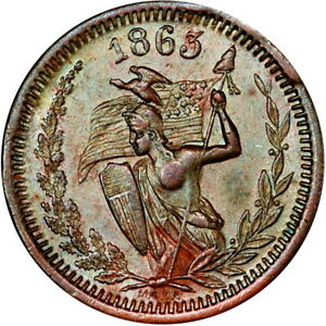1863 Stephen A Douglas Patriotic Civil War Token Naked Amazon Warrior R5 PCGS