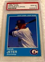 DEREK JETER 1995 COLUMBUS CLIPPERS POLICE BLUE ROOKIE PSA 10 GEM MINT POP 28