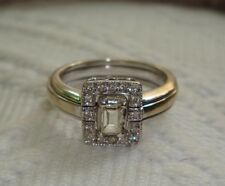 14K White Gold & Diamond Baguette (.25 carat) Solitaire and/or Cage ring