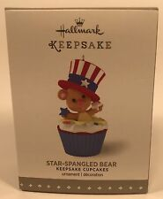 Hallmark Keepsake Ornament Star Spangled Bear 12th In The Cupcake Monthly Series