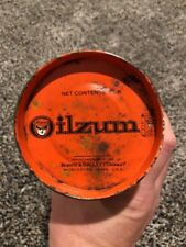 OILZUM HD #4 1 LB POUND NOT GAS OIL TIN CAN WHITE & BAGLEY WORCESTER MA MASS