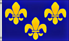 Fleur De Lis Blue Historical Flag 3x5 Polyester