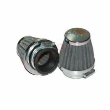 Set Conical Power Air Filters Chrome Back Yamaha RD350 2 Units Clamp on AUD