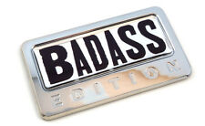 BADASS Edition Chrome Emblem with domed decal Car Auto motorcycle bike Badge