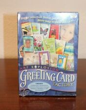 NEW Greeting Card Factory PC DVD create design projects graphics fonts