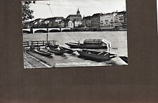 Switzerland Basel River view   realphoto 1960's posted A205