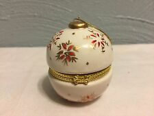 Round Porcelain Trinket Box Ornament