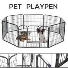 """31""""x24"""" Metal 8 panels Tall Dog Playpen Crate Fence Pet Play Pen Exercis Fence"""