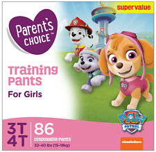 Parent's Choice Training Pants for Girls, Size 3T-4T, 86 Count