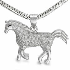 Anhänger 925er Silber Pferd Zirkonia