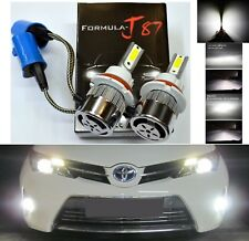 LED Kit C6 72W 9004 HB1 5000K White Two Bulbs Headlight Plug Play Replacement OE