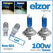 2 X H7 499 / 477 100w Xenon Super White Headlight Bulbs Dipped Main Beam 12v 501