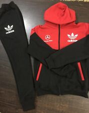 Adidas logo ladies red/black tracksuit  uk size medium 10/12