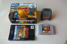 Jeu Nintendo 64 N64 Pokemon stadium en boite et notice (sans la cale)