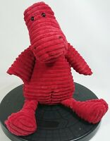 "Jellycat Burgundy Cordy Roy Dino Dinosaur Plush 12"" Retired J1341"
