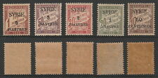 Syria, Postage Due 1924 SG. D139/D143, Mint Never Hinged.