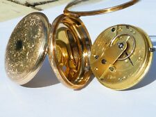 Rare ladies 18K FUSEE chain drive pocket watch in pristine condition - Serviced