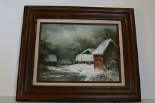 Vintage Oil Painting Of Winter Scene By André De Jong