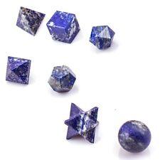 7 Piece Lapis Lazuli Platonic Solids Sacred Geometric Set Crystal Geometric Set