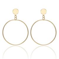 Damen Creolen Clips Ohrringe Ohrclips Ohne Ohrloch Rund Gold Silber Beschichtet