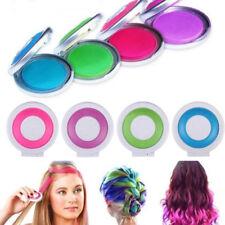 4 Color Pack Women Dye Hair Powder Cake Disposable Hair Chalk DIY Temporary