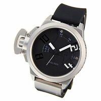 WELDER Watch Quartz Date Calendar Black × Black Rubber K24-3803