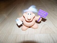 "3"" Russ Chubby Male Troll Pvc Figure Cake Topper Not Old Just Well Seasoned New"