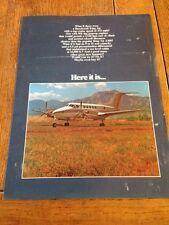 Vintage Beechcraft KingAir Brochure