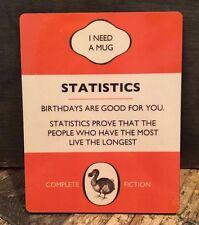 DODO BOOK COASTER: STATISTICS BIRTHDAYS ARE GOOD FOR YOU  - NEW IN CELLO