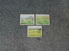 3 Golfing cigarette cards, issued by Wills in 1924 .