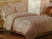 New Embroidered Floral Quilt 3Pc Set King Size Plus 2 King Shams By Sophia