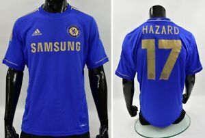 The Blues 2012 adidas Chelsea FC Home UEFA Super Cup Shirt HAZARD SIZE L adults