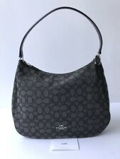 Coach * Women's Bag F29959 SVDK6 Signature Jacquard Hobo Black Smoke