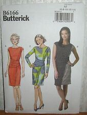 Womens/Misses Easy Close Fit Dresses Sewing Pattern/Butterick B6166/SZ 6-14/UCN