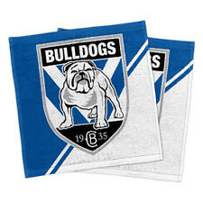 Canterbury Bulldogs NRL Face Washer set of 2 Towel Washcloth Flannel Xmas Gift