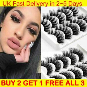 5 PCS False Eyelashes Long Thick Wispy Volume Strip Dramatic Lashes Set MakeUp