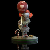 SDCC Q-fig Black and White Pennywise 74//1000 In Hand