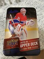 2015-2016 Upper Deck Series 1 Hockey Tin. Opened. Random Cards NHL Capitals