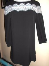BOHO Australia DRESS size M NEW&tags $89.99 black&white lace 12 14 work casual