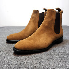 Men's Leather Suede Ankle Boots Chelsea Boots Dress Formal Casual High Top Shoes